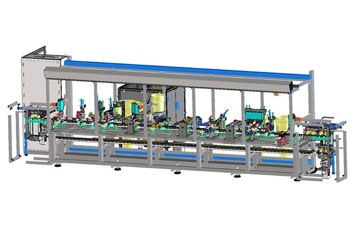 Automatic assembly machines for damped concealed hinge